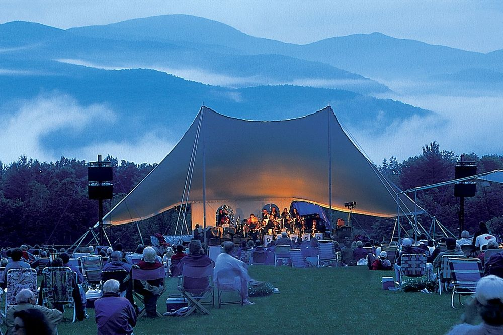 Outdoor entertainment at Trapp Family Lodge in Stowe, VT