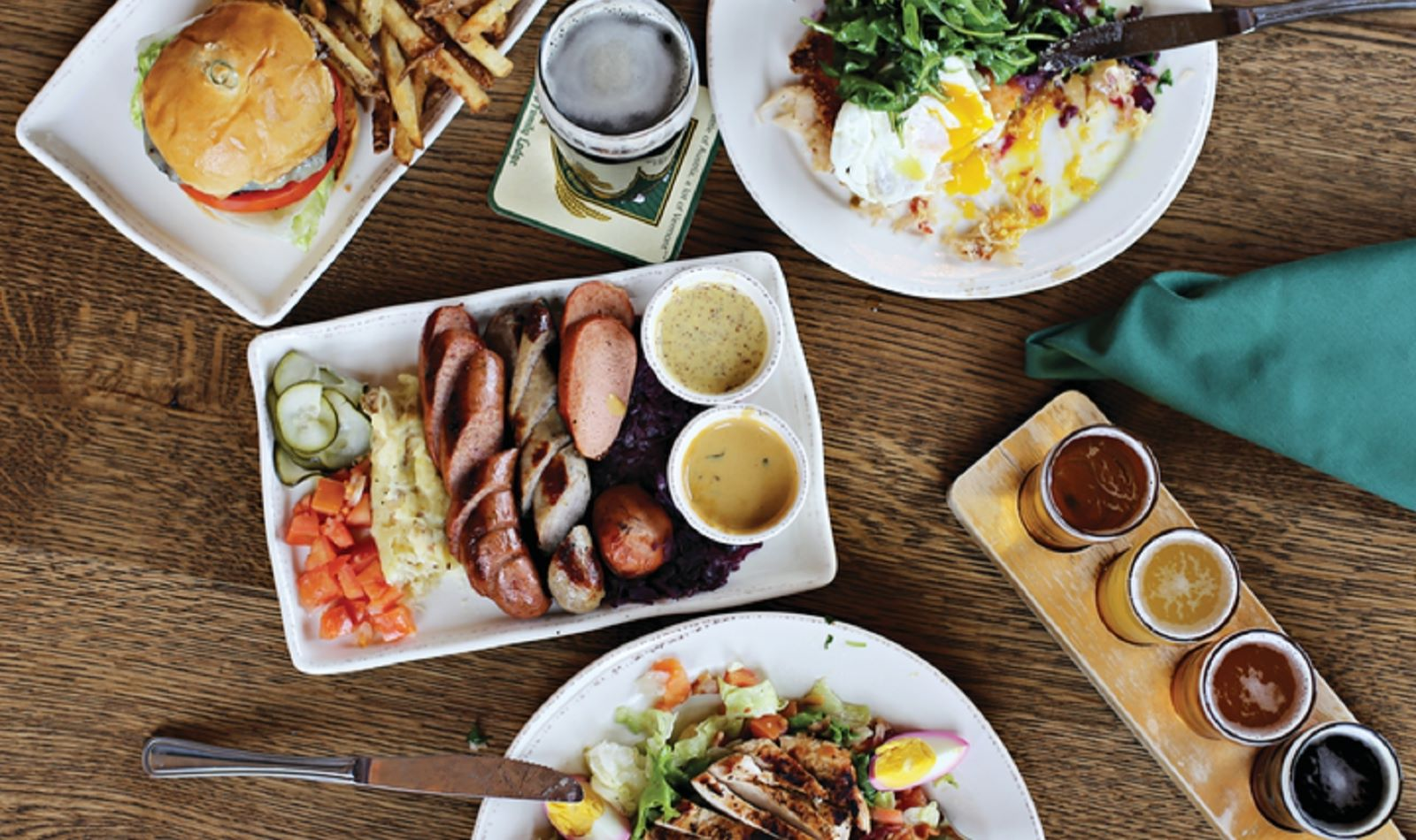 bierhall food dishes at Trapp Family Lodge