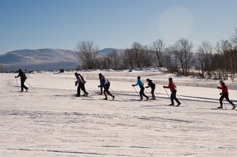 Ski clinic at Trapp Family Lodge