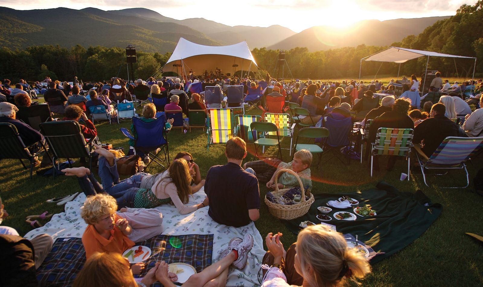 Concert in the Meadow at Trapp Family Lodge